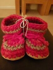 NOUVEAU Rouge & Gris Padraig Cottage Pantoufles Enfants Chaussures Taille 6 UK (...