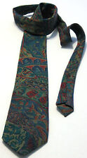 Pierre Cardin Green~Blue 100% Silk Men's Necktie (Made in France)