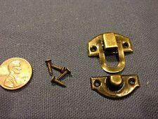 Dark mini dollhouse Antique wood latch Sets Box Case Lock hinge small c7