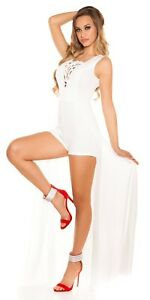 KouCla Ladies Playsuit Overall Jumpsuit With Schleppe