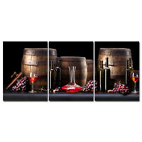 Canvas Print Painting Picture Wall Art Home Cafe Bar Decor Photo Wine Barrel