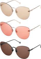Salvatore Ferragamo Fiore Women's Rimless Oversize Sunglasses - SF178S