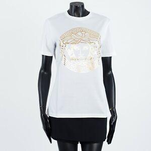 VERSACE 275$ White Cotton Crewneck Tshirt With Medusa Print