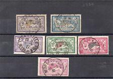 France: 6 timbres au type Merson oblitérés,  cachets  1er choix cote: 162,50€