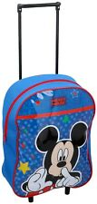 Disney Mickey Mouse Kids Wheeled Trolley Bag School Travel Cabin Holiday Bag