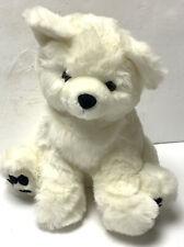 "America Wego 10"" Sitting White Teddy Bear Plush Animal Vintage Rare Super Soft"