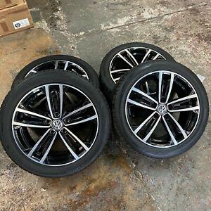 "Original/Genuine 17"" VW Golf Borbet alloy wheels & 225/45/17 tyres 5GE601025B"