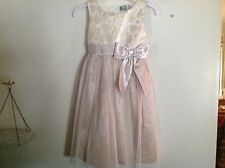 Girls Party Dress  Champagne with Gold płBodice by Dollie & Me SZ 6 Beautiful