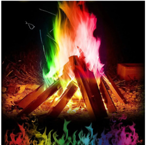 25g Magic Fire Colorful Flames Powder Magic Trick Outdoor Camping Hiking Tools