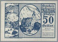 Notgeld - Österreich - Gemeinde Zelking in Niederösterreich - 50 Heller - 1920