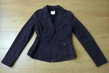 Diesel Ladies Herring Bone Pattern Single Button Hook Belt Brown Jacket Size S
