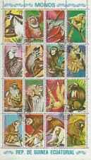 Timbres Animaux Primates Singes Guinée équatoriale 70/PA54 o lot 25126