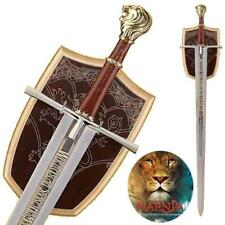 Chronicles Of Narnia Deluxe Prince Sword Replica w Wall Plaque Collectible