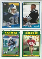 1988 Topps Football Part 2 #201-396 & 1,000 Yd Club Complete Your Set - You Pick