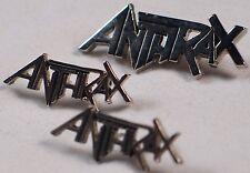 ANTRAX: Heavy Metal Band Vintage Pin Lot x3 Rare