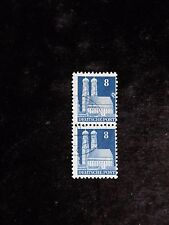 GERMANY post WWII Deutsche Post Bauten pair with visible plate error upper stamp