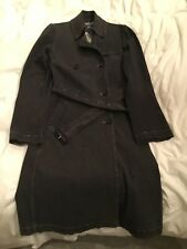 Burberry womens trench coat cotton/denim size 8