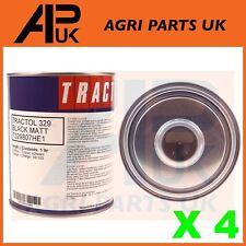 4 Litro de Pintura Negro Mate tractol chasis de alta calidad Tractor Volquete Excavadora 4X4