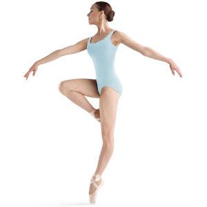 Bloch Dance Women's Faire Microlux Tank Leotard, Pastel Blue, Petite