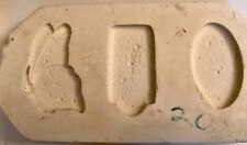 Vtg Clay Magic 70s Flowers-Butterflies Ceramic Mold-Floral Jewelry Ornament-Tags