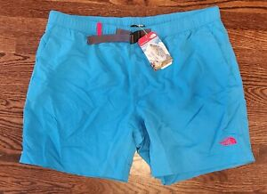 New Mens The North Face Class V Swim Trunks Shorts Clear Lake Blue Sz XXL