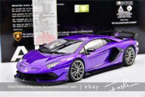 Autoart 1:18 Lamborghini Aventador SVJ Purple