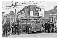 pt7829 - London Trolleybus at Fulwell Depot - photograph 6x4