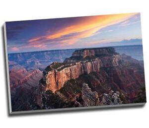 "Landscape Canvas Mountain Sunset Canyon Canvas Print Wall Art 30x20"" A1"