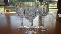Water Goblets glasses Longchamp Clear by CRISTAL D'ARQUES-DURAND 4 8 oz elegant
