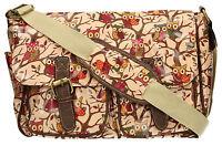 Girls Ladies Oilcloth Saddle Satchel Cross Body Messenger Bag A4 School College