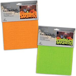 Haunted Halloween Flourescent Green Orange Gauze Cheese Cloth Table Cover