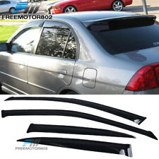 Fits 01-05 Honda Civic 4 Dr Sedan Slim Style Window Visors Acrylic 4Pcs Set