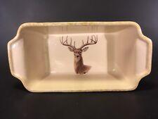"HTF Deer Buck East Texas Pottery Bread Meat Loaf Pan Baker 10"" Hunting Lodge USA"