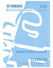 Yamaha owners service manual 2010 YZ250F, YZ250F(Z)