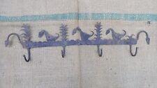 Antique Vintage Village Folk Art Clotes Hanger Rack Wrought Iron Hand Forged
