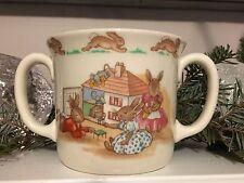 Royal Doulton Vintage China  Bunnykins 2 Handled Child's Cup Dollhouse Scene