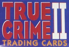 true crime 2 - (series 3 & 4) - complete set  -  110 trading cards