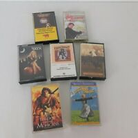 Lot of 7 Movie TV Soundtrack Audio Cassettes Sound of Music Saturday Night Fever