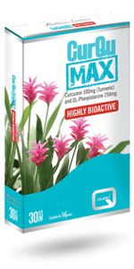 Quest CurQuMAX - Curcumin 100mg Turmeric and DL-Phenylalanine 250mg (30 Tablets)