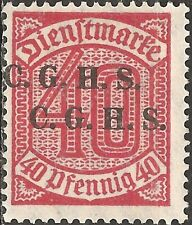 MH Overprint C. G. H. S. 1920+ UPPER SILESIA 40 Pfg. Stamp GERMANY Numeral