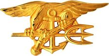 US Navy Seal Team Trident Gold Mini Lapel Pin 1-1/2""