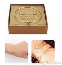 Gold Dipped Heart Good Karma Bracelet