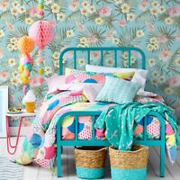 Candy tropical flowers removable Wallpaper green Decor Self Adhesive Peel Stick