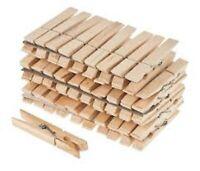 3 Pz. ** Set da 24 mollette in legno ** 72 mollette per bucato by HSH