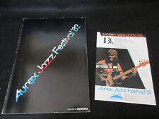 Aurex Jazz Festival 1982 Japan Tour Book w Promo Flyer Jaco Pastorius Big Band