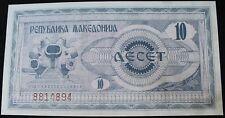 More details for 1992 | macedonia 10 denar 8814894 bank note | bank notes | km coins