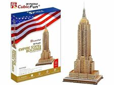 """NEW CubicFun New York Empire State Building 3D Puzzle 25.9"""" Tall"""