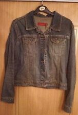 River Island Button Denim Casual Coats & Jackets for Women