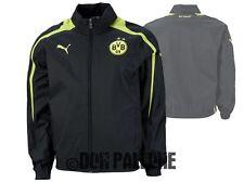 Puma Borussia Dortmund Regenjacke mit Kapuze schwarz BVB 09 Rain Jacket Gr.S