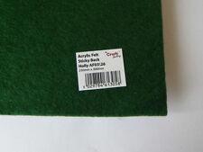 Tessuti e stoffe verde in feltro per hobby creativi